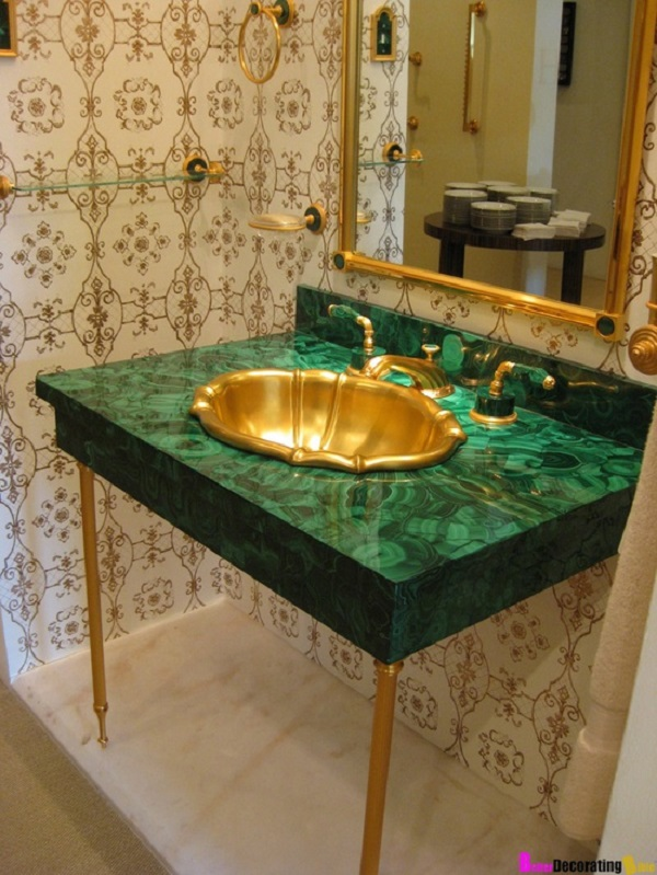 Malachite Emerald Green And Gold Katherine Spicer